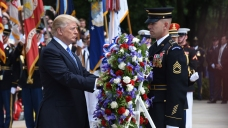 LIVE: Trump Visits Arlington Cemetery for Memorial Day