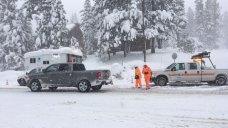 Recording Breaking Snow Shuts Down Highways in California