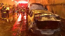 Car Catches Fire Inside MacArthur Tunnel in San Francisco