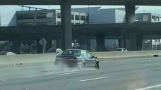 VIDEO: Police Chase Hit-and-Run Suspect on Highway 101