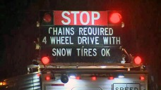 Rain in Bay Area, Snow Brings Chain Controls to Sierras