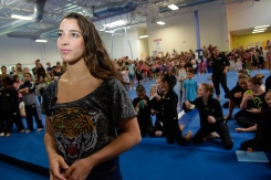 Aly Raisman Visits Local San Jose Gym