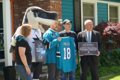Sharks Name San Jose Home an Official Teal House of Sharks Territory