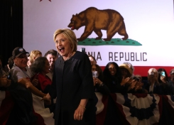 Hillary Clinton Rallies in the Bay Area