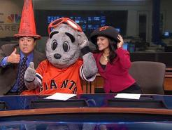 Lou Seal Hangs Out With Morning Crew