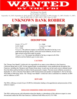 Poster Gallery: FBI's Most Wanted Bay Area Bank Robbers
