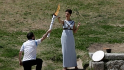 Olympic Flame is Lit in Greece With Mirror And Sun's Rays