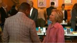 Clinton Talks at Oakland's Chicken and Waffles