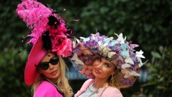 Pops of Color, Feathers and Butterflies at the Royal Ascot Race