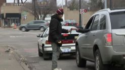 Homeless Man Accepts Credit Cards in Detroit