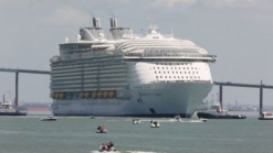 World's Largest Cruise Ship Sets Sail From France