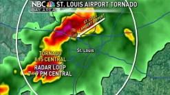 Tornado Closes St. Louis Airport. Chief Meteorologist Jeff Ranieri Has Radar When Tornado Hits.