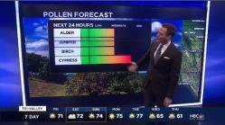 Jeff's Forecast: High Pollen & 70s