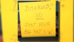 Nasty Note Targets Disabled Man