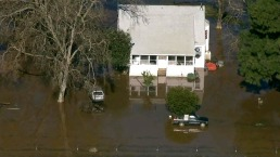 RAW: Aerial View of Flood Zones in San Joaquin and Sacramento Counties