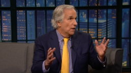 Henry Winkler on 'Late Night'
