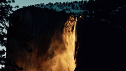 Yosemite's 'Firefall' Spews Water Resembling Lava