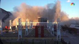 Site of 2 Super Bowls Implodes With Cloud of Smoke