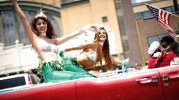 Mermaids Come Out of Their Shells for Coney Island Parade