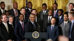 NBA Champion Warriors Honored at the White House