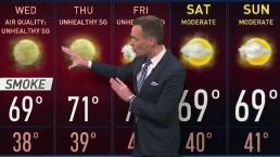 Jeff's Forecast: Rain Could Help Smoke