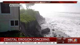 Violent Waves, Crashing Trees Batter Peninsula Coast, Ranger's House Teeters on Cliff