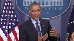 Obama Praises Sasha, Malia in Last Press Briefing