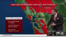 Red Flag Warning in Bay Area Through Thursday Afternoon