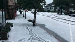 Snow in Half Moon Bay? Nope, Just a Blanket of Hail