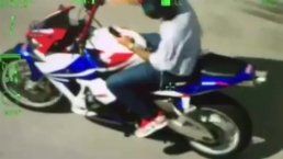 RAW VIDEO: Motorcyclist Texts, Rides Hands-Free During Chase