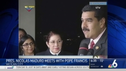 Pope Francis Meets With Venezuela President