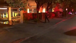 RAW: San Rafael Garage Fire