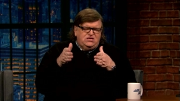 'Late Night': Michael Moore Wants Trump to Attend More Briefings