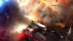 NYC Fire Backdraft Blast Caught on Camera