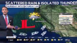 Jeff's Forecast: Isolated Rain & Thunder