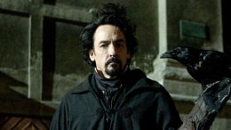 "John Cusack a Pitch-Black Edgar Allan Poe in ""The Raven"""