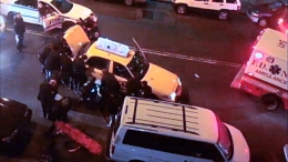 Police Lift Taxi Off Pedestrian in Bronx