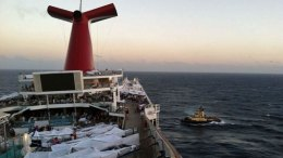 Images Aboard Crippled Carnival Triumph