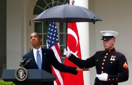 Obama US Turkey umbrella