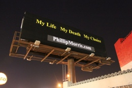 """Improved"" Billboard Advertises Suicide by Cigarettes"
