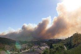 Rye Fire Erupts in Santa Clarita