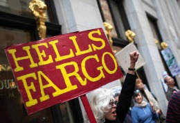 Images: Activists Occupy Wells Fargo