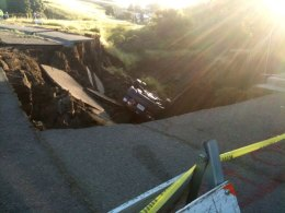 Sinkhole Devours Richmond Road