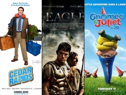 "This Week's New Movies: ""The Eagle,"" ""Gnomeo & Juliet,"" and ""Cedar Rapids"""