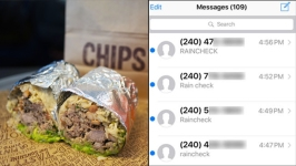 Man Bombarded With Mistaken Texts for Free Chipotle Burritos