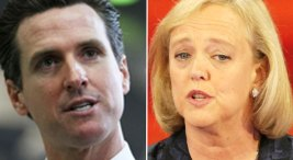Newsom, Whitman Stump Nonstop