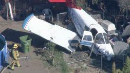 Pilot Injured After Plane Lands in Calif. Yard