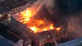 1 Dead, 7 Rescued After Four-Alarm Fire in Oakland