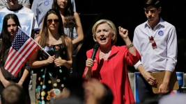 Clinton Says She Takes a 'Backseat to No One' Among Liberals