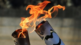 Protesters Halt Olympic Torch Relay in Brazil